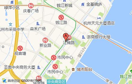 杭州高德置地广场.ICON私邸位置-小柯网