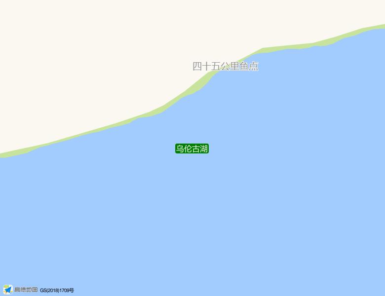 乌伦古湖景点高清地图