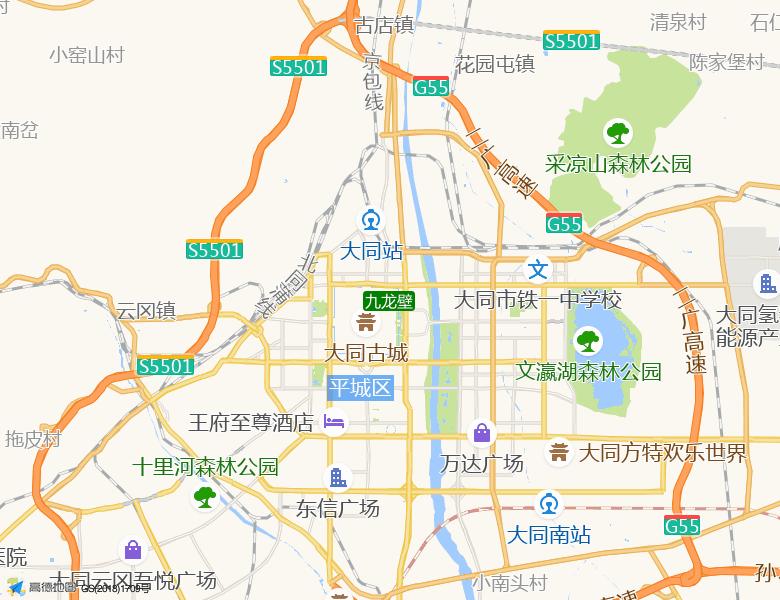 九龙壁景点高清地图