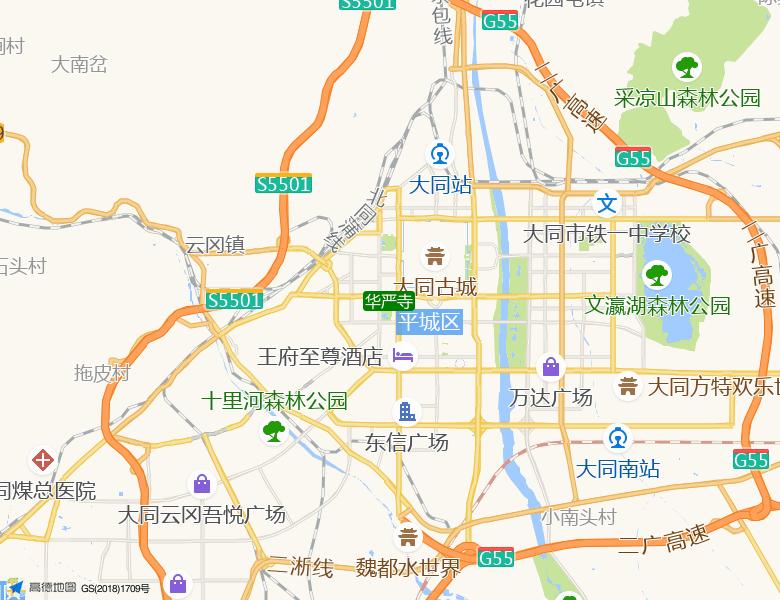 华严寺景点高清地图