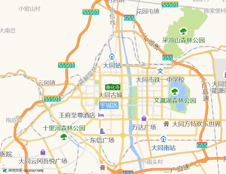 善化寺景点高清地图