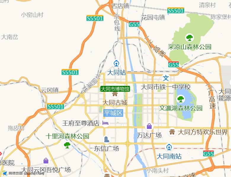 大同市博物馆景点高清地图