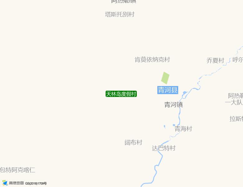 天林岛度假村景点高清地图