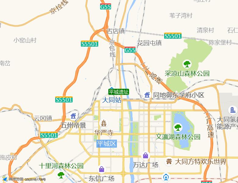 平城遗址景点高清地图